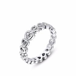 Nhẫn trái tim đính đá cao cấp sang trọng N4574