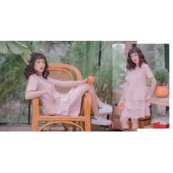 Đầm baby doll Hồng