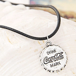 Dây da nắp chai Coca Cola - Vòng cổ nam