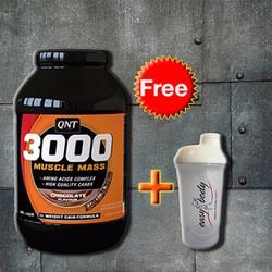 QNT 3000 Muscle Mass Protein 4,5Kg + Tặng bình lắc Shaker Trắng
