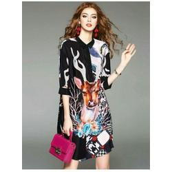 Đầm suông sơ mi- hàng thiết kế