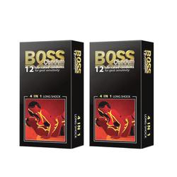 2 HỘP Bao cao su Boss 4 in 1 - hộp 12 cái