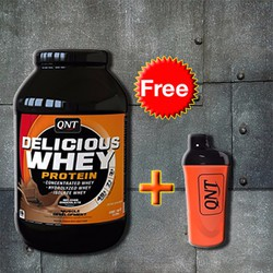 QNT Delicious Whey protein Free Bình Shaker cao cấp QNT Cam