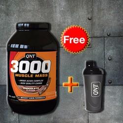 QNT 3000 Muscle Mass Protein 4,5Kg + Tặng bình lắc Shaker cao cấp Đen