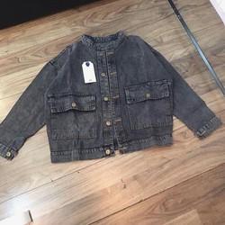 áo khoác jean dáng croptop