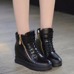giày bốt nữ cổ cao độn đế