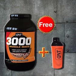 QNT 3000 Muscle Mass Protein 4,5Kg + Tặng bình lắc Shaker cao cấp Cam
