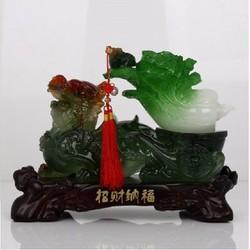 Tỳ hưu cõng bắp cải nhỏ linh vật phong thủy thờ cúng và trang trí