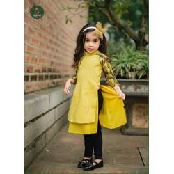 Áo dài gấm cho bé gái