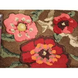 Thảm Chùi Chân Họa Tiết Hoa 3D 2 Lớp 1 Mặt Chống Thấm hoa hồng
