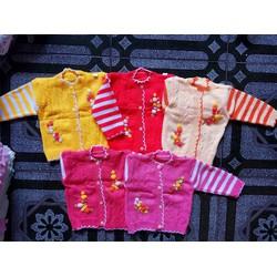 Áo khoác len dày cho bé gái