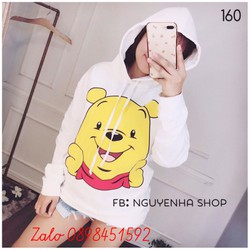 Áo hoodie nữ gấu pooh