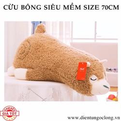 Cừu Bông Lông Xoăn Siêu Mềm Size Lớn 70cm Hàng Cao Cấp