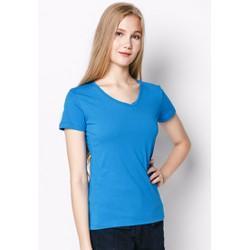 Áo thun trơn nữ cổ tim cotton cao cấp siêu nhẹ siêu mát MPNU16