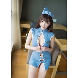 Váy ngủ cosplay cảnh sát hở ngực sexy TK1002