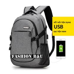 Balo nam đựng laptop có sạc USB - BM10