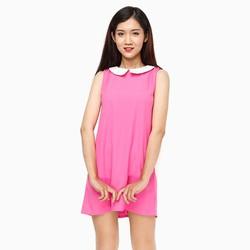 Đầm suông cổ sen màu hồng