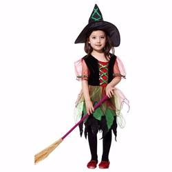 Set Váy đầm và mũ phù thủy - Trang phục hóa trang Halloween cho bé