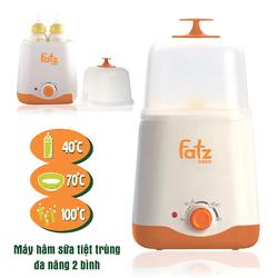 Máy hâm sữa tiệt trùng đa năng 2 bình cổ rộng Faztbaby FB3011SL