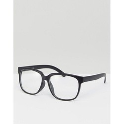 Kính  ASOS Square Glasses In Matte Black With Clear Lens