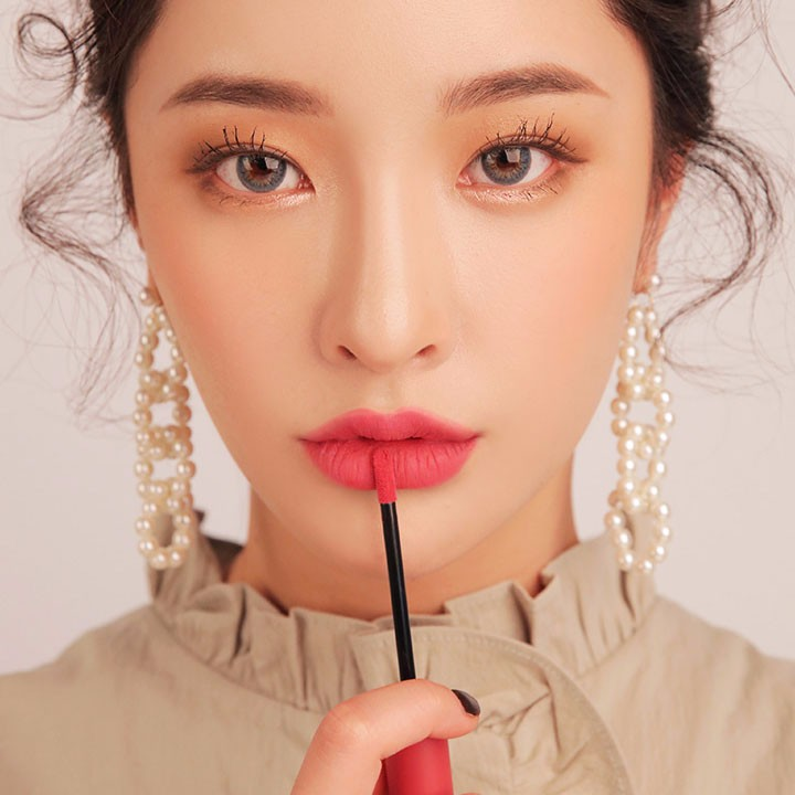 Son 3CE Velvet Lip Tint Pink Break Màu Hồng Đào 7