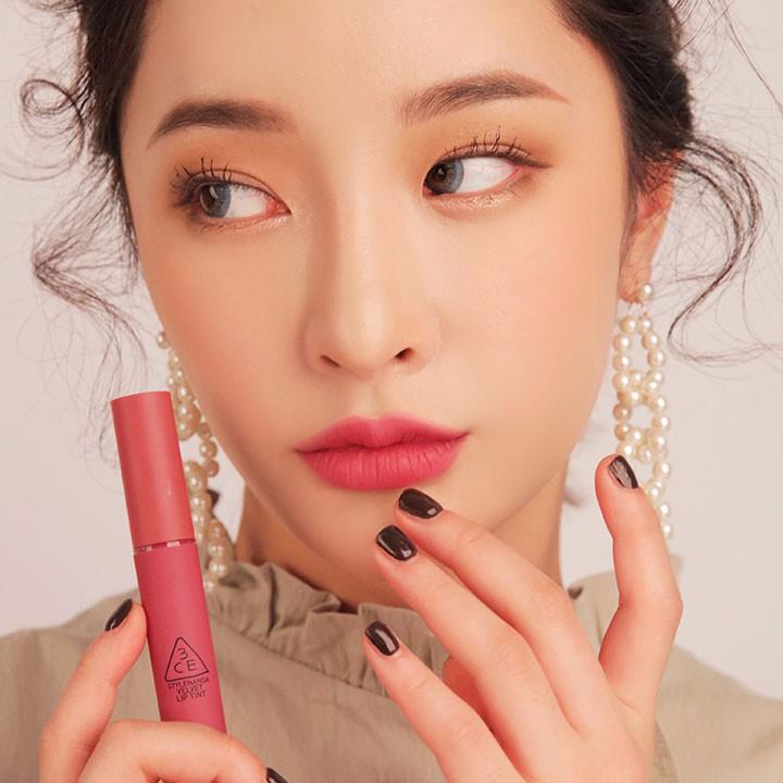Son 3CE Velvet Lip Tint Pink Break Màu Hồng Đào 8