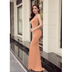 Đầm dạ hội hở lưng thiết kế ôm body tôn dáng