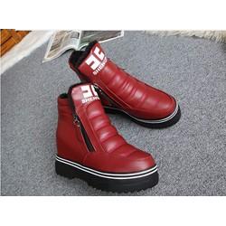 giày sneaker nữ độn trong 9p 2 màu đỏ ,đen