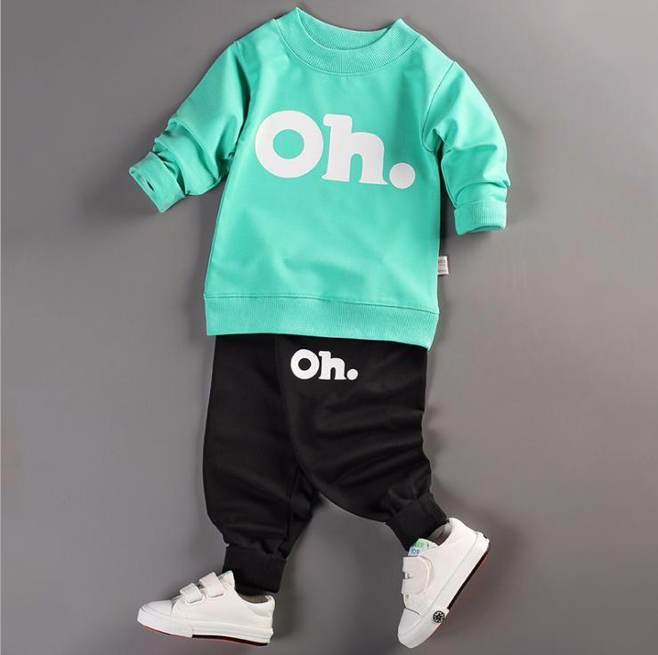 Bộ quần áo bé trai dài tay in hình OH thời trang ZAVANS - BT01
