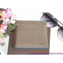 Ví da nam PRA thiết kế đơn giản có nhiều ngăn tiện dụng