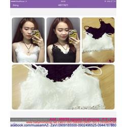 Áo croptop 2 dây ren hoa sành điệu và quyến rũ ART14