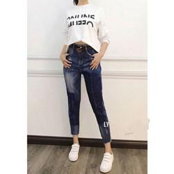 quần baggy jean loang màu