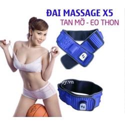 Đai massage x5 tan mỡ tạo dáng eo thon
