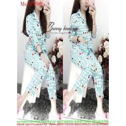 Đồ bộ nữ mặc nhà pyjama chấm bi hình chuột mickey NN500