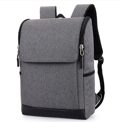 Ba lô laptop Unisex chống thấm  phối da thời trang QSTORE QS107