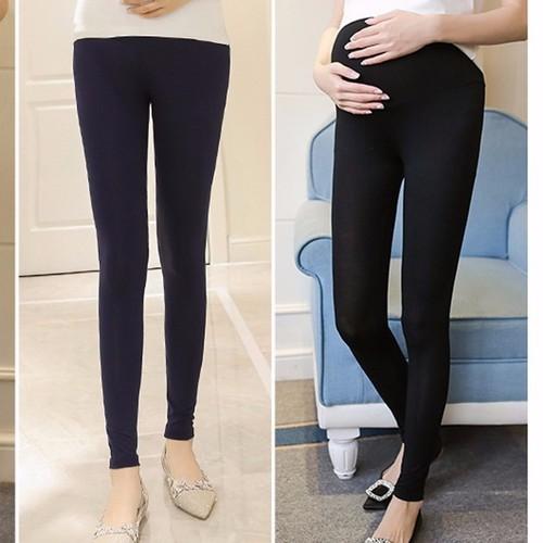 Quần legging bầu dài đen - Size to đến 90kg