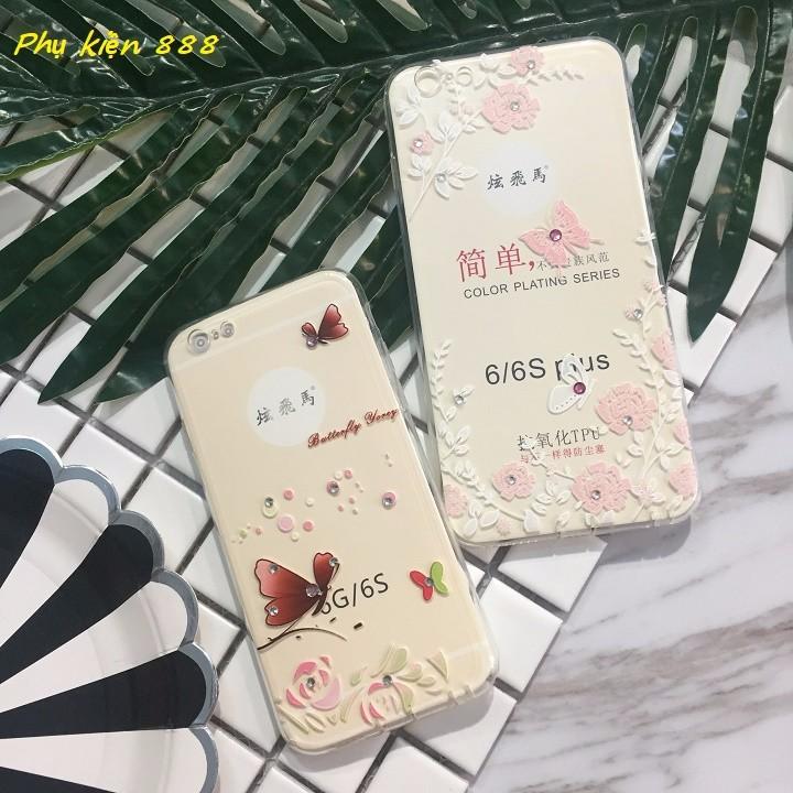 Ốp lưng silicon Iphone 6 6s 6p bướm bay 7