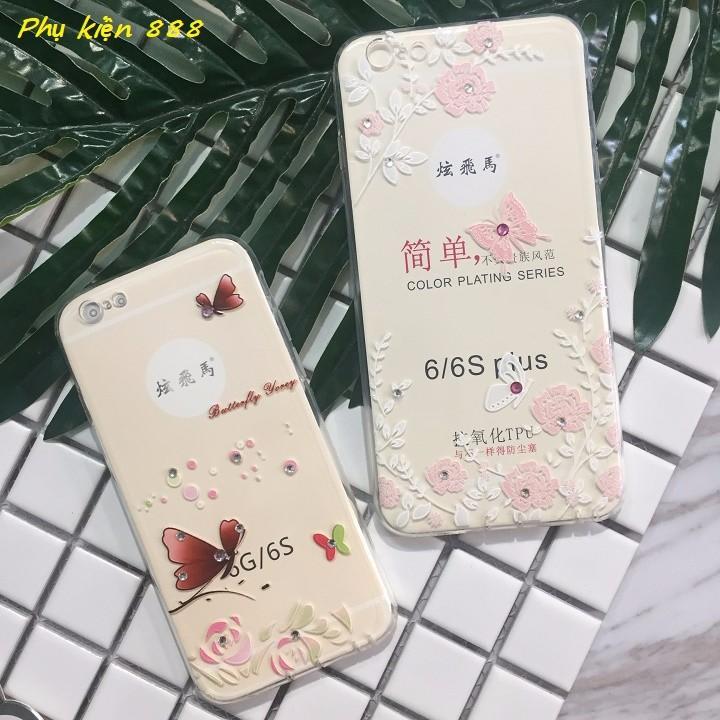 Ốp lưng silicon Iphone 6 6s 6p bướm bay 5