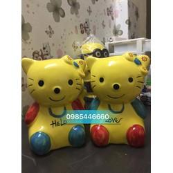 Heo tiết kiệm - lợn sứ mèo vàng