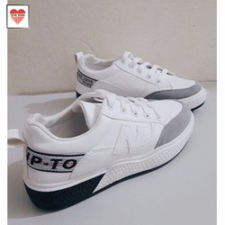Giày nữ trắng chữ N đế cao