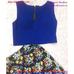 Set áo croptop váy hoa đá SN52