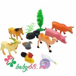 Bộ đồ chơi mô hình thú nuôi trong nhà đại bằng nhựa T853-205