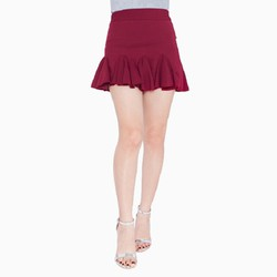 Chân váy đuôi cá màu đỏ đô