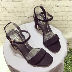 giày cao gót Đế vuông nữ  sắt bọc gót cực cực sang