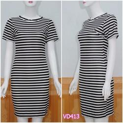 Đầm soc body tay con VD413 - V135