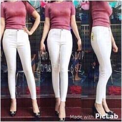 Quần jean dài nữ trắng