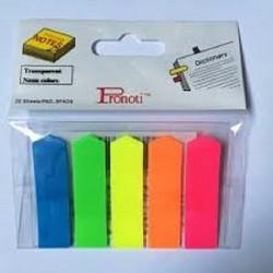 Giấy note 5 màu nhựa Pronoti chuyên sỉ và lẻ văn phòng phẩm
