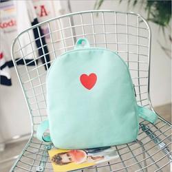 Balo thời trang nữ trái tim xanh ngọc 2465