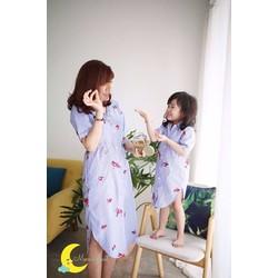 Đầm đôi mẹ bé somi xinh cực duyên diện mùa xuân hàng vnxk