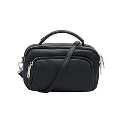 Túi đeo chéo, ba lô nữ da bò thật cao cấp màu đen ET65